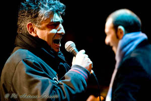 Frankie Roma Rat Pack Tribute Singer Washington DC on stage outdoors in Matera