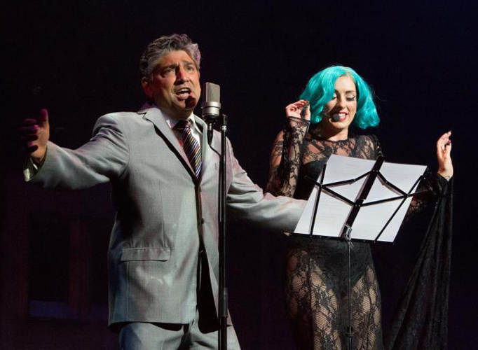 Frankie Roma (UK's Tony Bennett Tribute Singer) with Lady GaGa Tribute singer Donna Marie